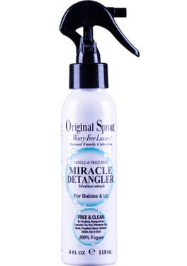 Buy Miracle Detangler For Babies & Up 4 oz (118 ml) Original Sprout Online, UK Delivery, Vegan Cruelty Free Product Hair Conditioners for Kids