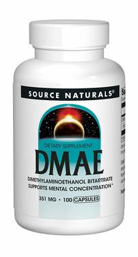 DMAE 351 mg 100 Caps Source Naturals, Dimethylaminoethanol Bitartrate