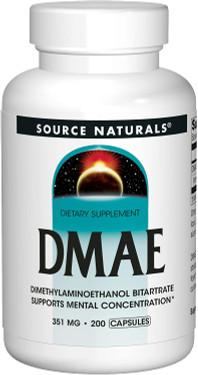 UK Buy DMAE 351 mg 200 Caps Source Naturals, Dimethylaminoethanol Bitartrate