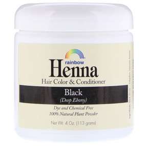 Buy Henna 100% Botanical Hair Color & Conditioner Persian Black (Deep Ebony) 4 oz (113 g) Powder Rainbow Research Online, UK Delivery, Henna Hair Care Hair Coloring