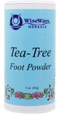 Buy Tea-Tree Foot Powder 3 oz (85 g) WiseWays Herbals Online, UK Delivery, Feet Foot Care