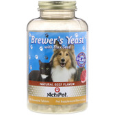 Buy Brewer's Yeast For Dogs & Cats Natural Beef & Garlic Flavor 90 Chewable Tabs Actipet Online, UK Delivery, Pet Supplements For Pets Cats