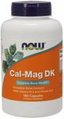 Cal-Mag DK 180 Caps Now Foods, Calcium, Magnesium, Bones