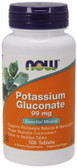 Potassium Gluconate 99 mg 100 Tabs Now Foods, Muscle Contractions