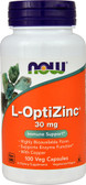 Buy UK L-Optizinc 30 mg + Copper 100 Caps Now Foods, Immune Support