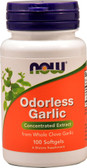 Odorless Garlic Orig  100 Softgels, Now Foods