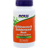 UK Buy Echinacea & Goldenseal Root, 100 Caps, Now Foods, Immune