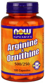 Arginine & Ornithine, 100 Caps, Now