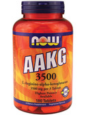 Now Foods AAKG 3500, 180 Tabs, Performance