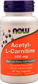 Buy Acetyl L-Carnitine 500 mg 50 Caps, Now Foods