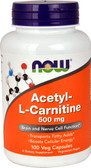 Buy Acetyl L-Carnitine 500 mg 100 Caps Now Foods, Brain Support