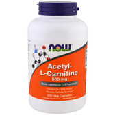 Buy Now Foods Acetyl L-Carnitine 500 mg 200 Caps, Cognition