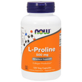 Proline 500 mg, 120 Caps, Now Foods, Joints & Collagen