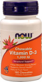 Vitamin D-3 1000iu 180 Loz Now Foods, Bone & Dental