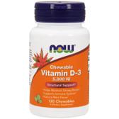 UK Buy Now Foods, Vitamin D-3, 5000 IU, 120 Chewables, Bones