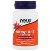 UK Buy Methyl B-12 5000 mcg w/Folic Acid, 120 Lozenges, Now Foods