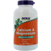Buy UK Calcium & Magnesium, 250 Tabs, Now Foods, Bones