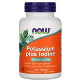 UK Buy Potassium Plus Iodine, 180 Tabs, Now Foods