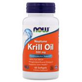 UK buy Neptune Krill Oil, 500 mg, 60 Softgels, Now Foods