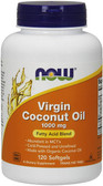 Now Foods, Virgin Coconut Oil, 1000 mg, 120 Softgels, MCT's