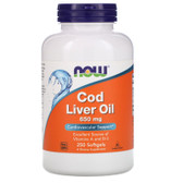 UK buy Cod Liver Oil, Double Strenght, EPA, DHA, 250 Softgels, Now Foods