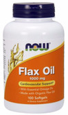Now Foods Flax Oil 1000 mg 100 Softgels, Cardiovascular