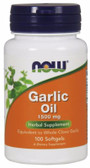 UK Buy Garlic Oil 1500 mg, 3X Strength, 100 Softgels, Now Foods