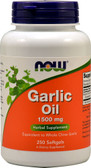 UK Buy Now Foods Garlic Oil 1500 mg 250 Softgels