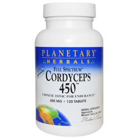 UK Buy Cordyceps 450 mg Full Spectrum 120 Tabs, Planetary, UK Store