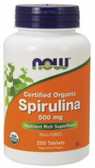 Spirulina 500 mg, 200 Tabs, Now Foods