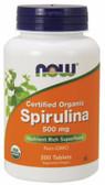 Spirulina 500 mg, 200 Tabs, Now Foods