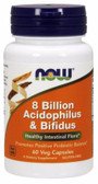 UK Buy Acidophilus Bifidus 8 Billion, 60 Caps, Now Foods