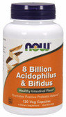 UK Buy Acidophilus and Bifidus 8 Billion 120 Caps, Now Foods