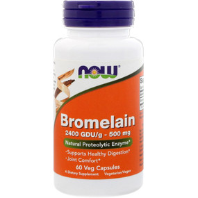UK Buy Bromelain 2400 GDU, 500 mg, 60 Caps, Now Foods