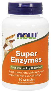 UK Buy Super Enzyme 90 Caps Now Foods, Digestive Support
