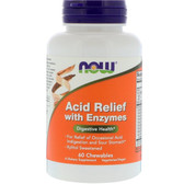 Buy Now Foods, Acid Relief with Enzymes, 60 Chewables