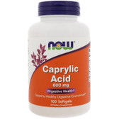 UK Buy Caprylic Acid 600 mg, 100 Softgels, Now Foods