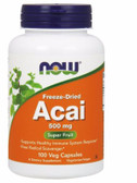 Buy Now Foods Acai 500 mg 100 Caps, Immune, Inflammation