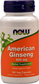 UK Buy American Ginseng 500 mg 100 Caps, Now Foods