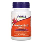 UK Buy Methyl B-12 5000 mcg  60 loz, Now Foods Supplement