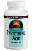 Pantothenic Acid 500 mg 200 Tabs, Source Naturals, Vitamin B-5