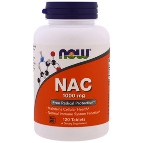 UK NAC 1000 mg, 120 Tabs, Now Foods