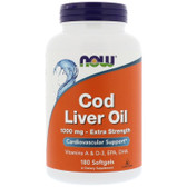 UK Buy Cod Liver Oil, 1000 mg, 180 Softgels, Now Foods