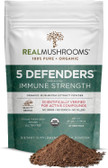 UK Buy 5 Defenders, Turkey Tail, Chaga, Reishi, Shiitake, 45g, Real Mushrooms