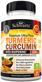 Buy UK Turmeric Curcumin with Bioperine 1500mg 90 Caps, BioSchwartz