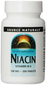 UK Buy Niacin 100 mg 250 Tabs, Source Naturals, Vitamin B-3
