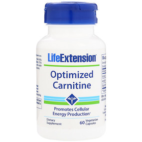 UK Buy Optimized Carnitine, 60 Caps, Life Extension