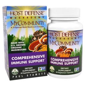 UK buy Host Defense Mushrooms, MyCommunity, Immune, 30 Caps