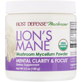 UK Lion's Mane Mushroom Mycelium, Mental Clarity & Focus, 3.5 oz, Fungi Perfecti