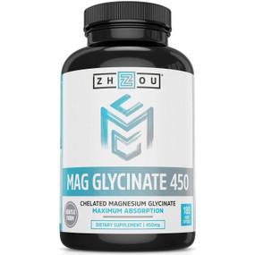 UK Buy Magnesium Glycinate Complex 450 mg, 180 Tabs, Zhou